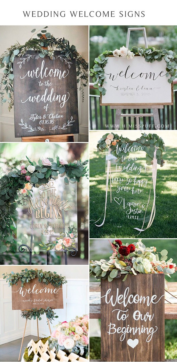 wedding welcome sign wood sign for rustic wedding