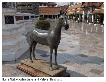 Horse Statue in the Grand Palace Bangkok