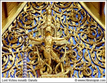 Lord Vishnu and Garuda...courtesy of himmapan.com