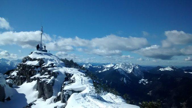 Winterwandern Voralpen: Gipfel des Wallberg