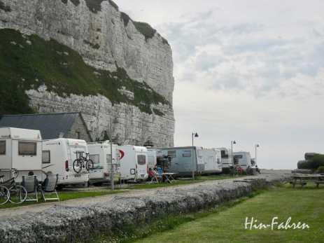 Wohnmobilstellplatz Normandie Saint-Valery-en-Caux #Normandie #Wohnmobiltour