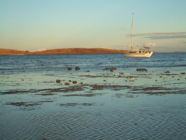 Sundown at Enderby Island