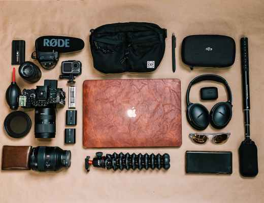 set of equipment for professional photography