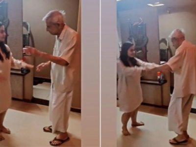 दिल को छू लेने वाले वायरल वीडियो में महिला अपने दादा के साथ इको इको गाने पर डांस कर रही है।  घड़ी