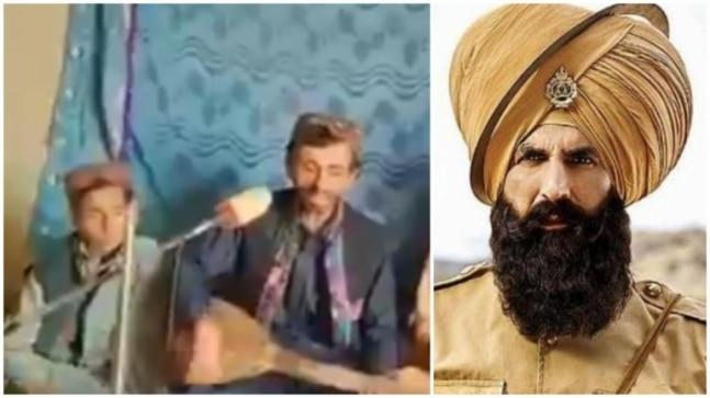 बलूच गायक वहाब अली बुगती वायरल वीडियो में केसरी गाना तेरी मिट्टी गाते हैं।  अक्षय कुमार, कृपया देखें