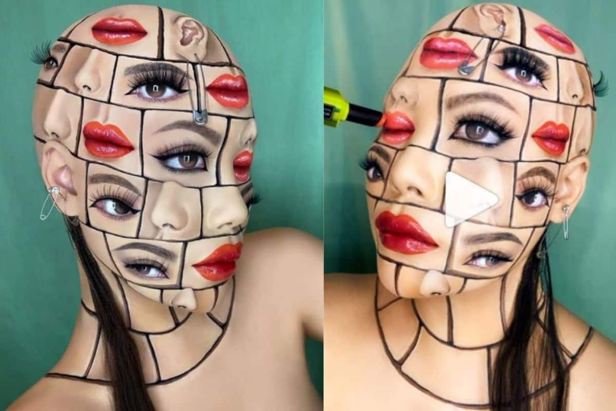 Viral Video: Makeup Artist Creates Mind Boggling Optical Illusion on Face. Netizens Are Shook