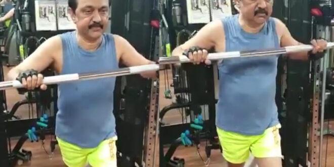 वायरल वीडियो: जिम में पसीना बहाते सीएम