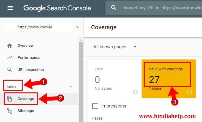 Index Coverage Issue कैसे Fix करे