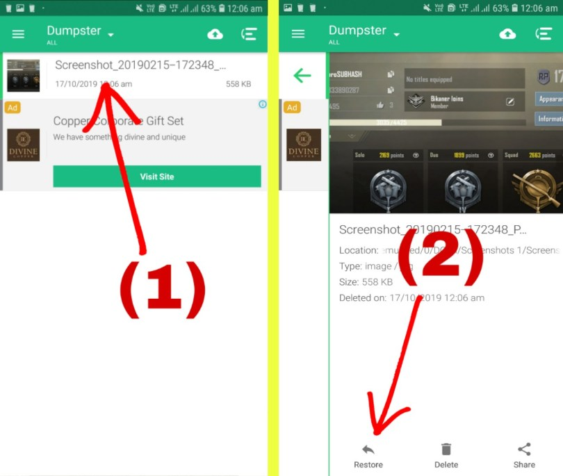 Mobile Se Delete Photo Backup Apps Dumpster