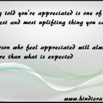appreciation importance