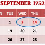Interesting History of September 1752(सितम्बर 1752 का रोचक इतिहास):