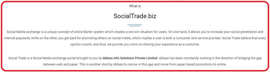social trade biz review