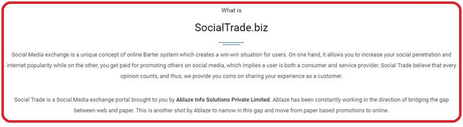 social trade biz review