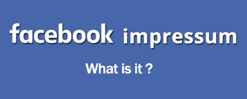 Impressum Facebook Page