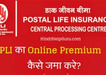 PLI premium online kaise jama kare how to pay