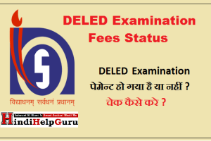 Check DELED Examination Fees Status