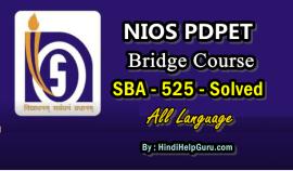 Bridge Course SBA 525