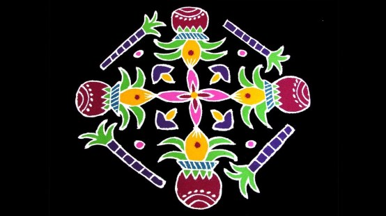 Simple Pongal Special Rangoli