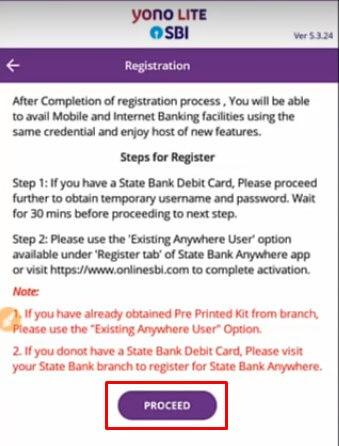yono lite sbi new registration