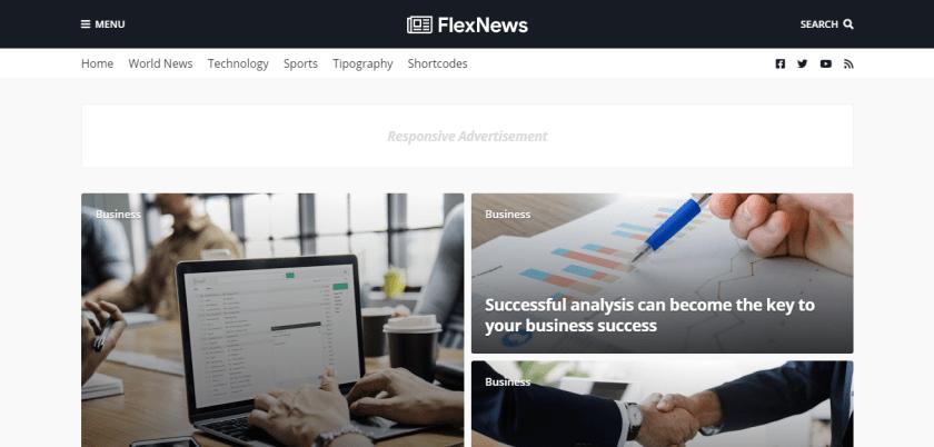FlexNews Magazine Blogger Template