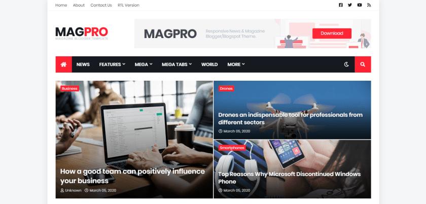 Magpro Blogger Templates