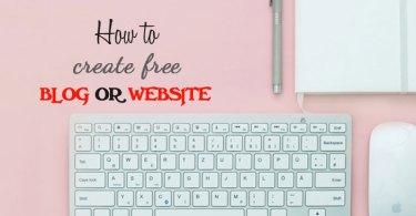 free me website ya blog kaise banaye