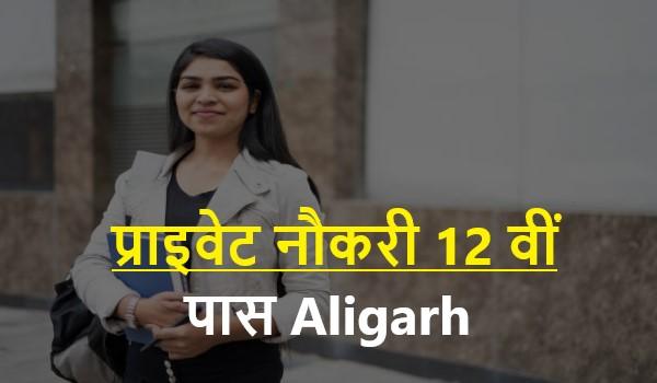 Private Naukri 12th Pass Aligarh 2021     प्राइवेट नौकरी 12 वीं पास Aligarh