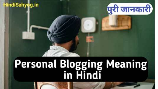 Personal Blog meaning in Hindi