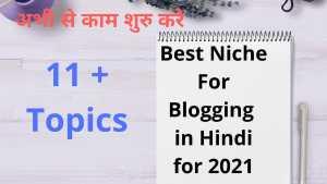 Best Niche For Blogging in Hindi