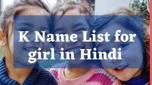 K Name List for girl in Hindi