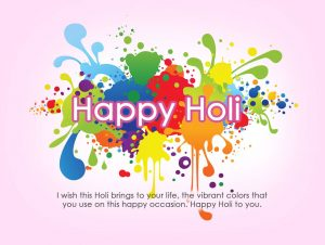Holi Greeting HD Image