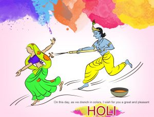 Shree Krishna Holi Playing Images
