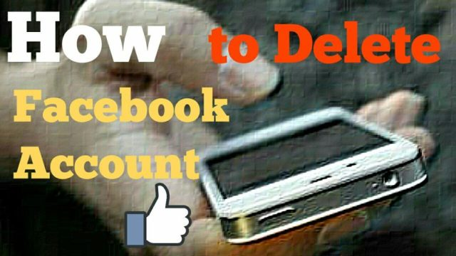 How to delete facebook account in hindi
