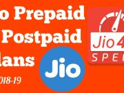 Jio 2018 prepaid and postpaid plans