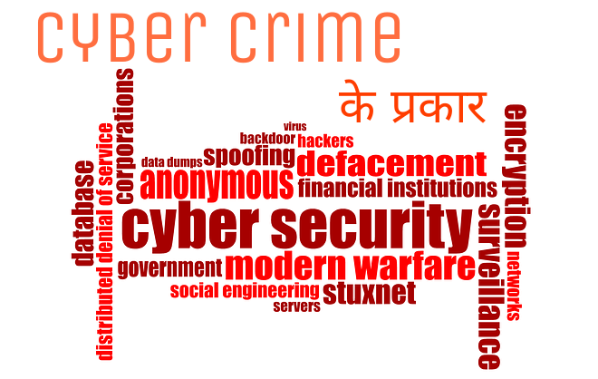 Type of cyber crimes in hindi