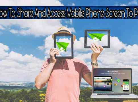 How to access phone screen on pc