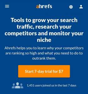 Ahrefs Backlinks Checker Tool