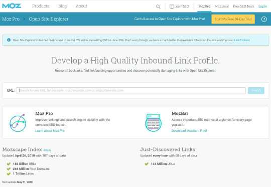 Moz Semrush Backlinks Checker Tool