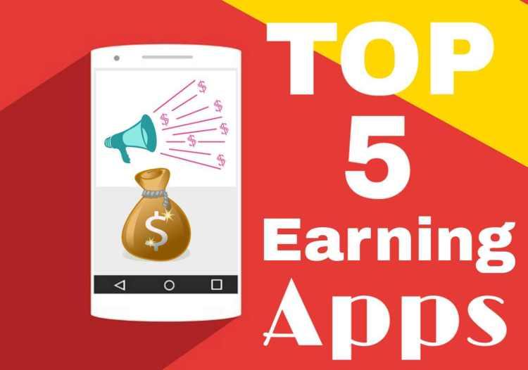 घर बैठे पैसे कमाने के Top 5 Best Online Earning Apps