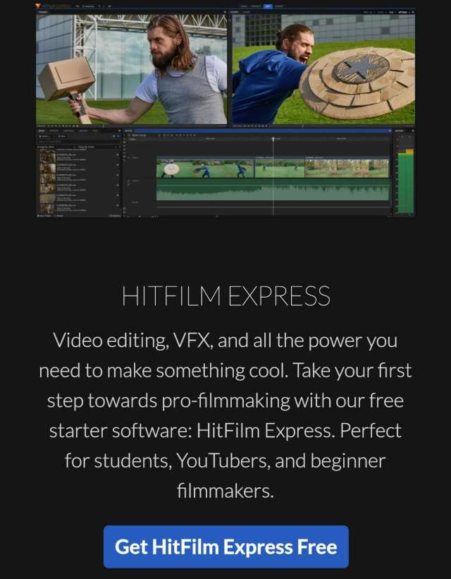 Hitfilm express Computer Software For Video Editing