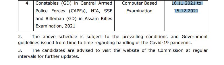 SSC-GD-Exam-Date-2021