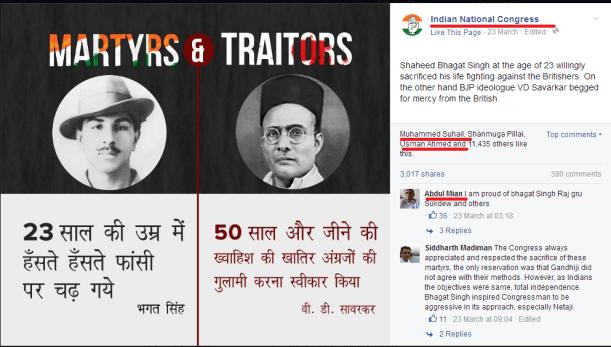 Congress post insulting Savarkar