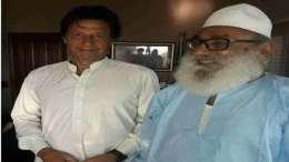 Radical Sufi preacher with Imran Khan