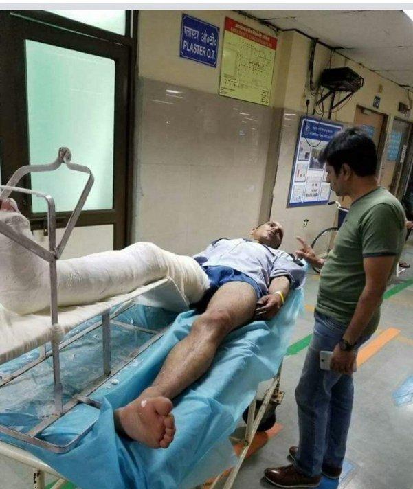 JNU Guard Leg Broken