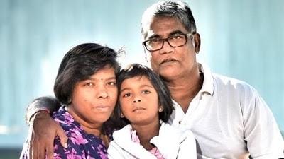 Maha (L), Shayla, and Roger Singaravelu.