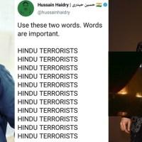 "Bollywood Islamist Hussain Haidry, writer of Karan Johar's ""Takht"", calls Hindus ""terrorist"""