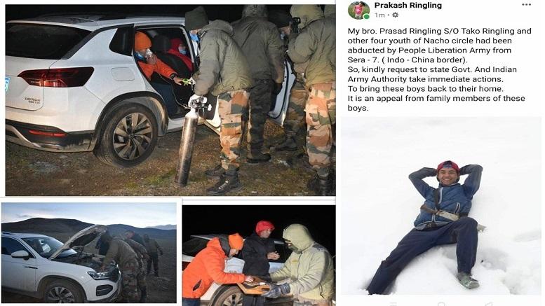 Chinese Army kidnaps 5 Arunachal