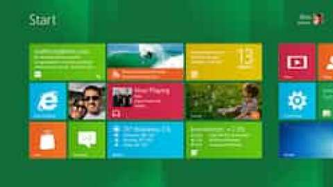 Windows 8 tile-based Start screen