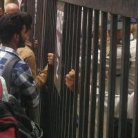 IIMC Delhi students protest top cop SRP Kalluri's visit,  denied entry in campus