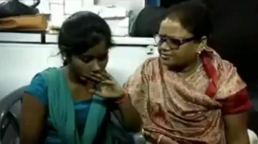 Video screengrab of Aligarh BJP Mahila Morcha leader Sangeeta Varshney with the 18-year-old girl, whom she slapped for dating a Muslim man.